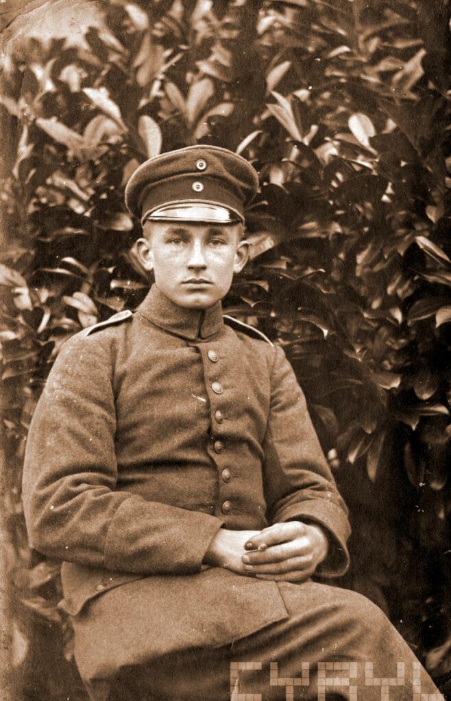 Andrzej Jankowiak w mundurze niemieckim w czasie I wojny światowej