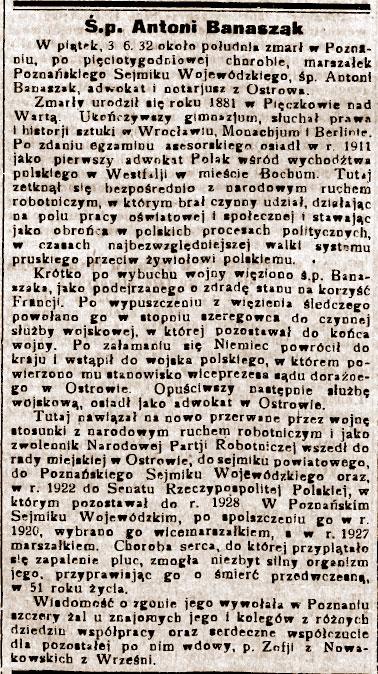Orędownik Wrzesiński nr 64 z 07.06.1932 roku