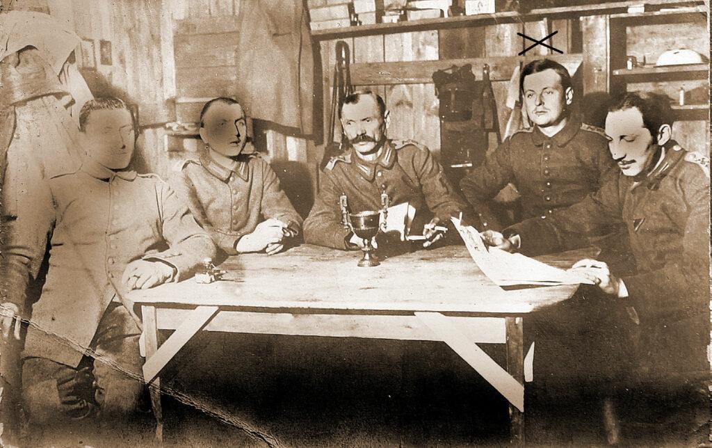 Edmund Moellenbrock na froncie I wojny światowej.