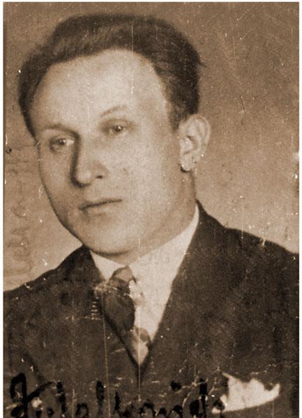 Feliks Walkowiak w 1938 r. - zdjęcie z legitymacji kolejowej