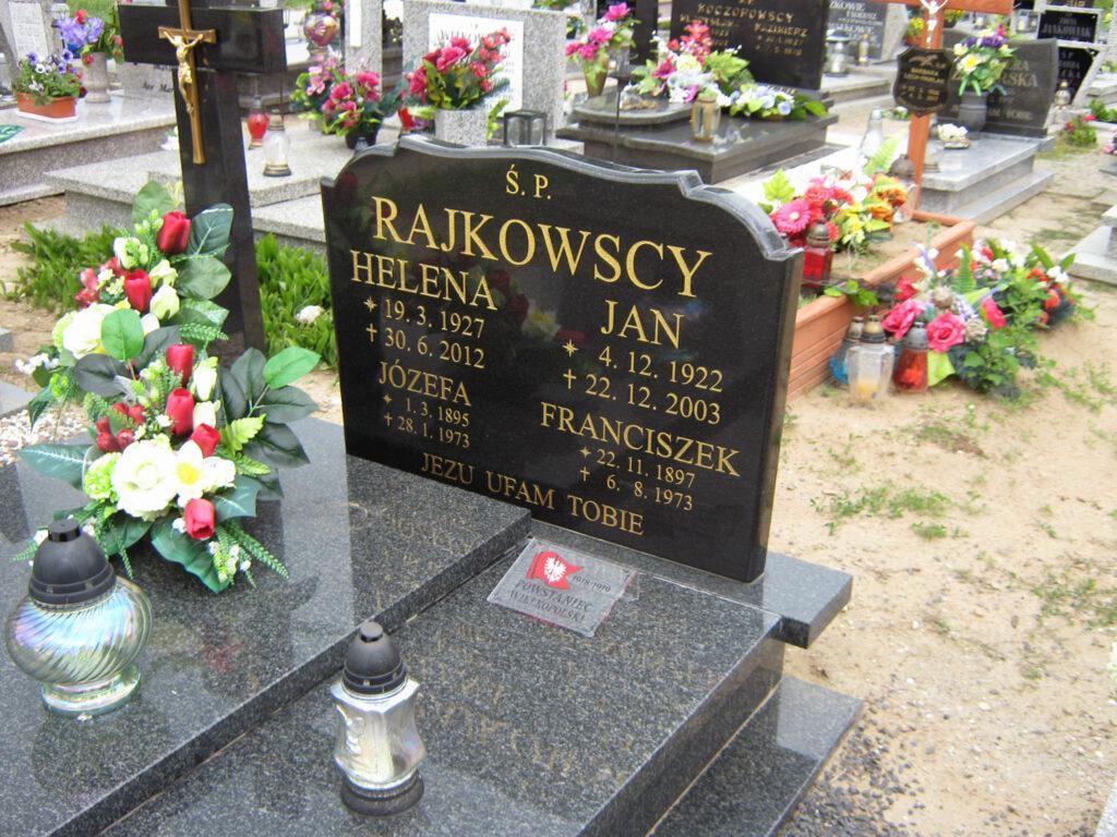 Franciszek Rajkowski - cmentarz w Biechowie