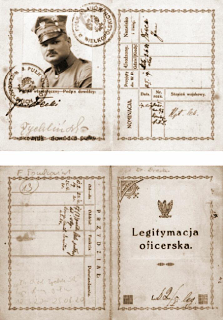 Legitymacja oficerska Jana Dreckiego.