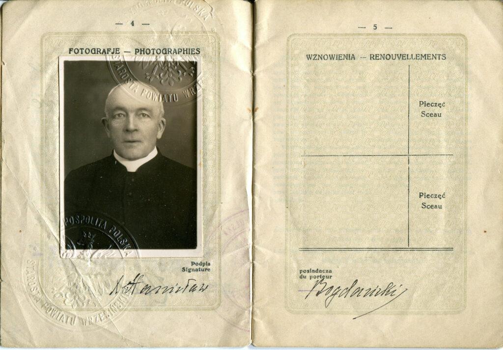 Stanisław Bogdański - paszport (udostępnił Remigiusz Maćkowiak)