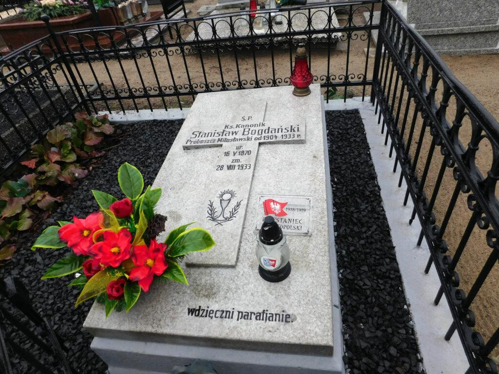 Stanisław Bogdański - cmentarz w Miłosławiu (autor zdjęcia: Remigiusz Maćkowiak)