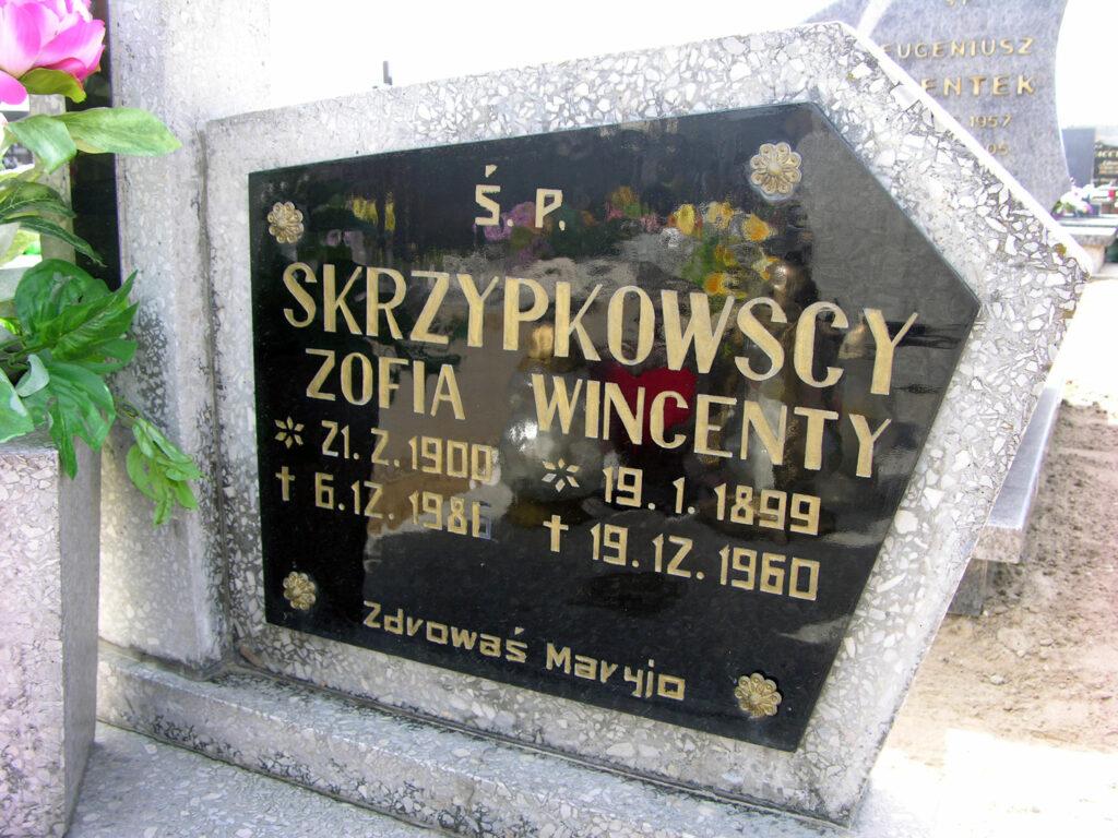 Wincenty Skrzypkowski - cmentarz w Orzechowie