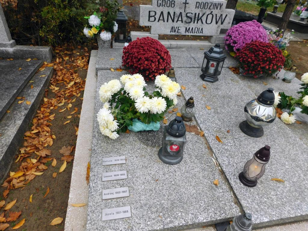 Andrzej Banasik - cmentarz junikowski w Poznaniu (zdjęcie udostępnił Remigiusz Maćkowiak)