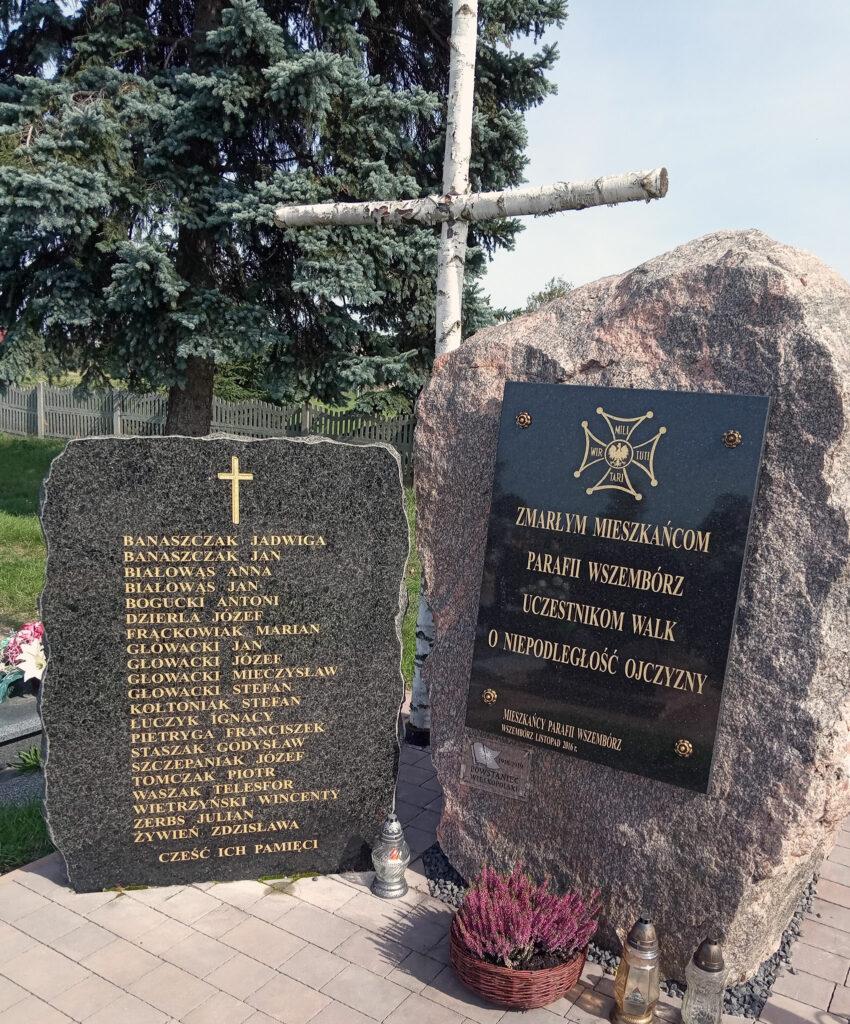 Antoni Bogucki upamiętniony na pomniku we Wszemborzu (zdjęcie udostępnił Remigiusz Maćkowiak)