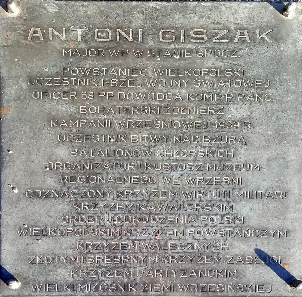 Antoni Ciszak - cmentarz komunalny we Wrześni (zdjęcie udostępnił Remigiusz Maćkowiak)