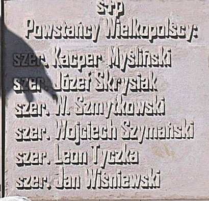 Tablica na pomniku Powstańców w Brzozie Bydgoskiej