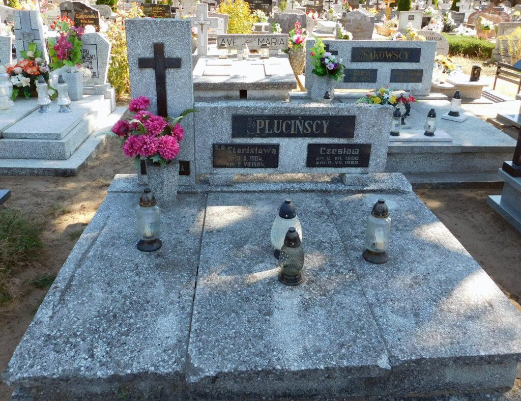 Czesław Pluciński -  cmentarz komunalny we Wrześni (zdjęcie udostępnił Remigiusz Maćkowiak)