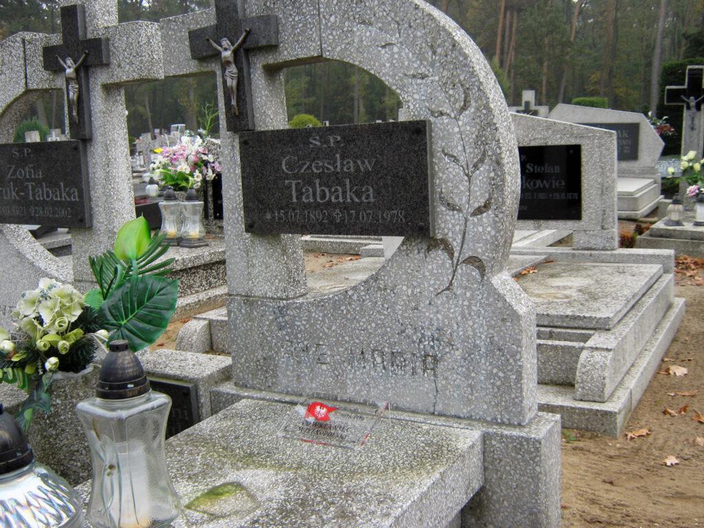 Czesław Tabaka - cmentarz komunalny we Wrześni (zdjęcie udostępnił Remigiusz Maćkowiak)