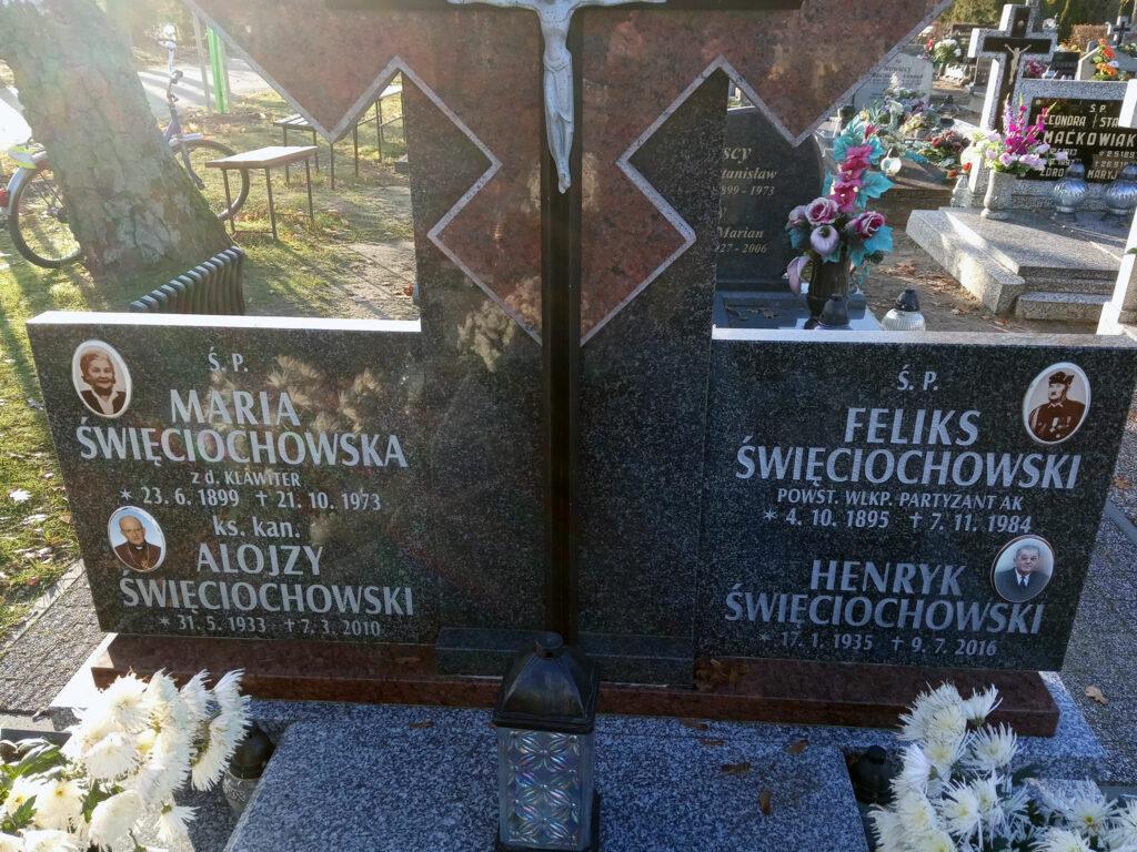 Feliks Święciochowski - cmentarz komunalny we Wrześni (zdjęcie udostępnił Remigiusz Maćkowiak)