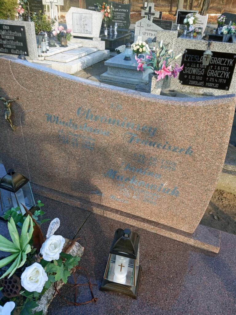 Franciszek Chrominski - cmentarz komunalny we Wrześni (zdjęcie udostępnił Remigiusz Maćkowiak)