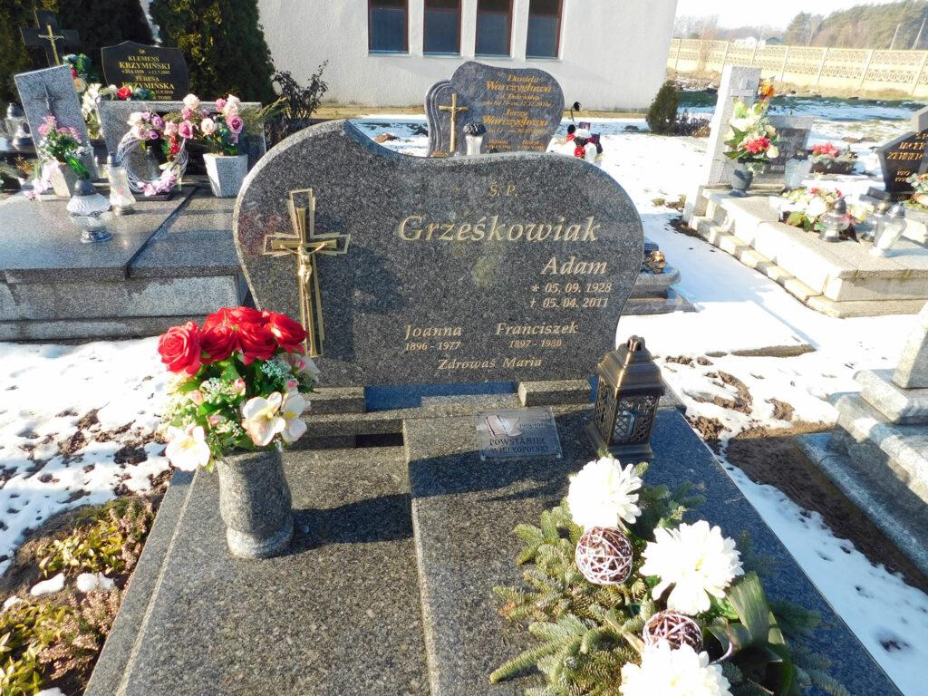 Franciszek Grześkowiak - cmentarz parafialny w Graboszewie (zdjęcie Remigiusz Maćkowiak)