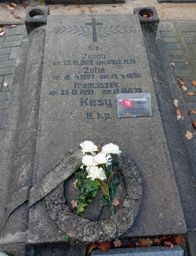 Franciszek Kęsy - cmentarz parafialny we Wrześni (zdjęcie udostępnił Remigiusz Maćkowiak)