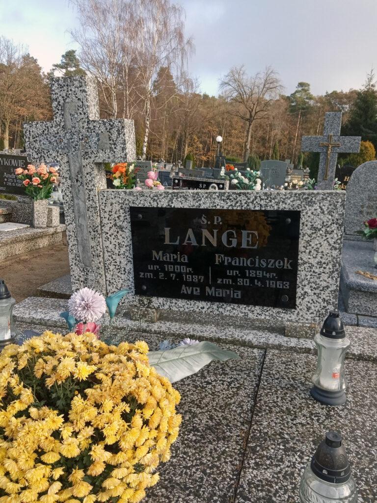 Franciszek Lange - cmentarz komunalny we Wrześni (zdjęcie udostępnil Remigiusz Maćkowiak)