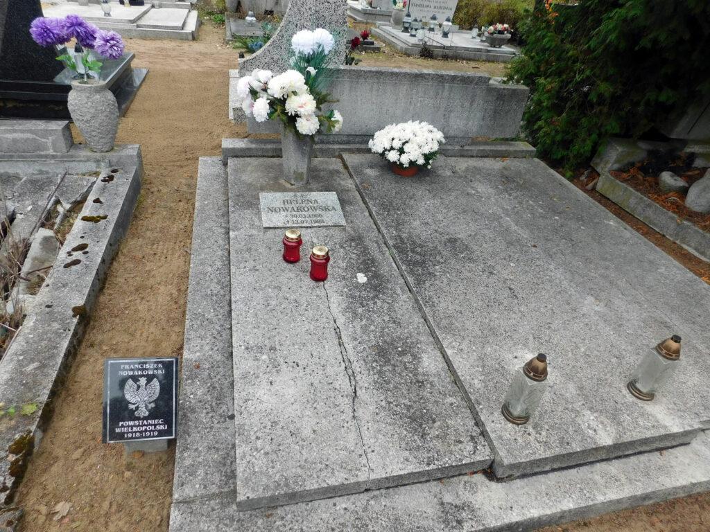 Franciszek Nowakowski - cmentarz junikowski w Poznaniu (zdjęcie udostępnił Remigiusz Maćkowiak)