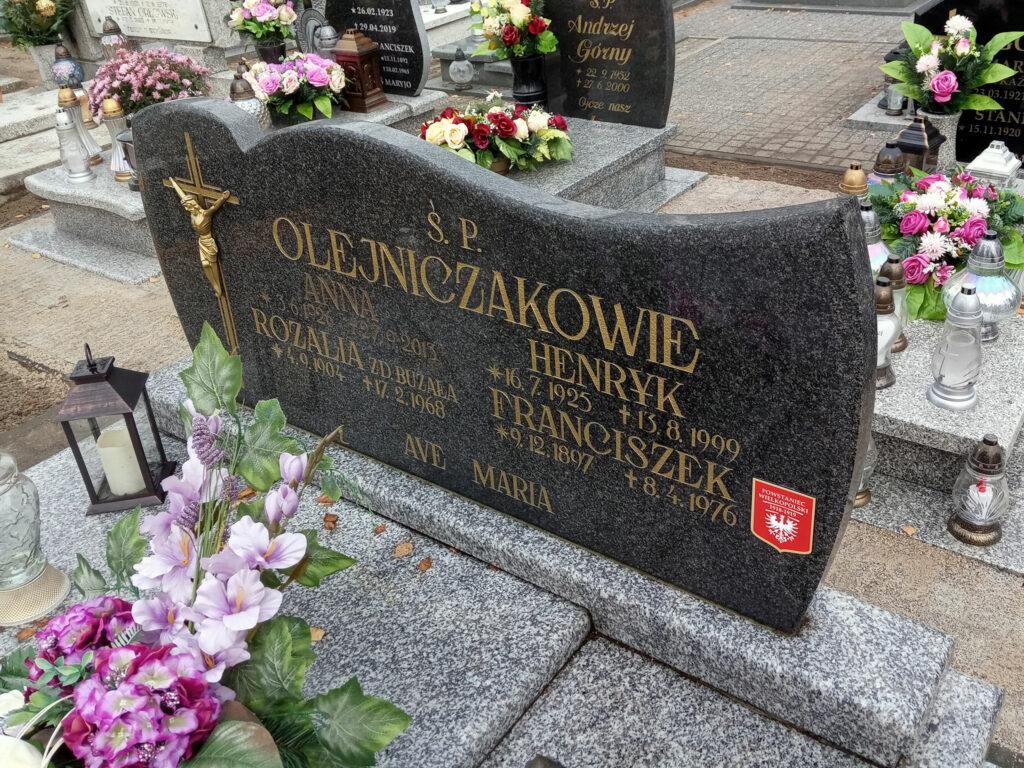 Franciszek Olejniczak - cmentarz komunalny we Wrześni (zdjęcie udostępnił Remigiusz Maćkowiak)