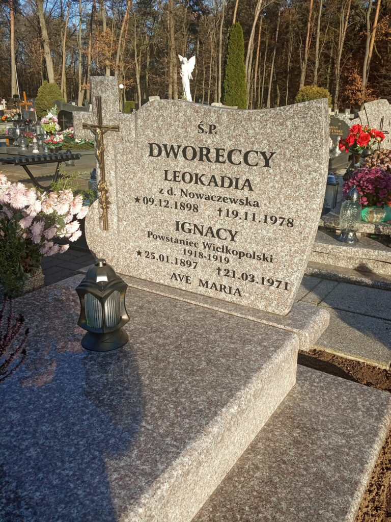 Ignacy Dworecki - cmentarz komunalny we Wrześni (zdjęcie udostępnił Remigiusz Maćkowiak)