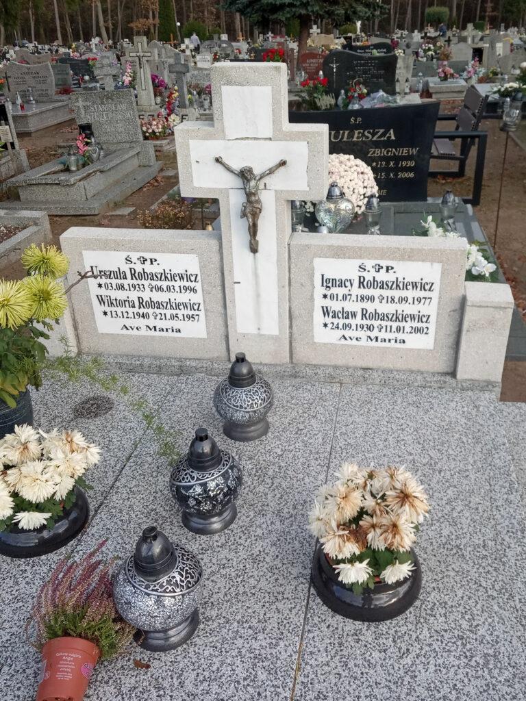 Ignacy Robaszkiewicz - cmentarz komunalny we Wrześni (zdjęcie udostępnił Remigiusz Maćkowiak)