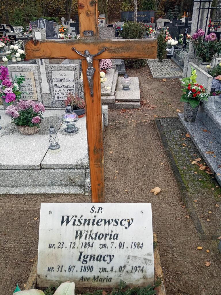 Ignacy Wiśniewski - cmentarz komunalny we Wrześni (zdjęcie udostępnił Remigiusz Maćkowiak)