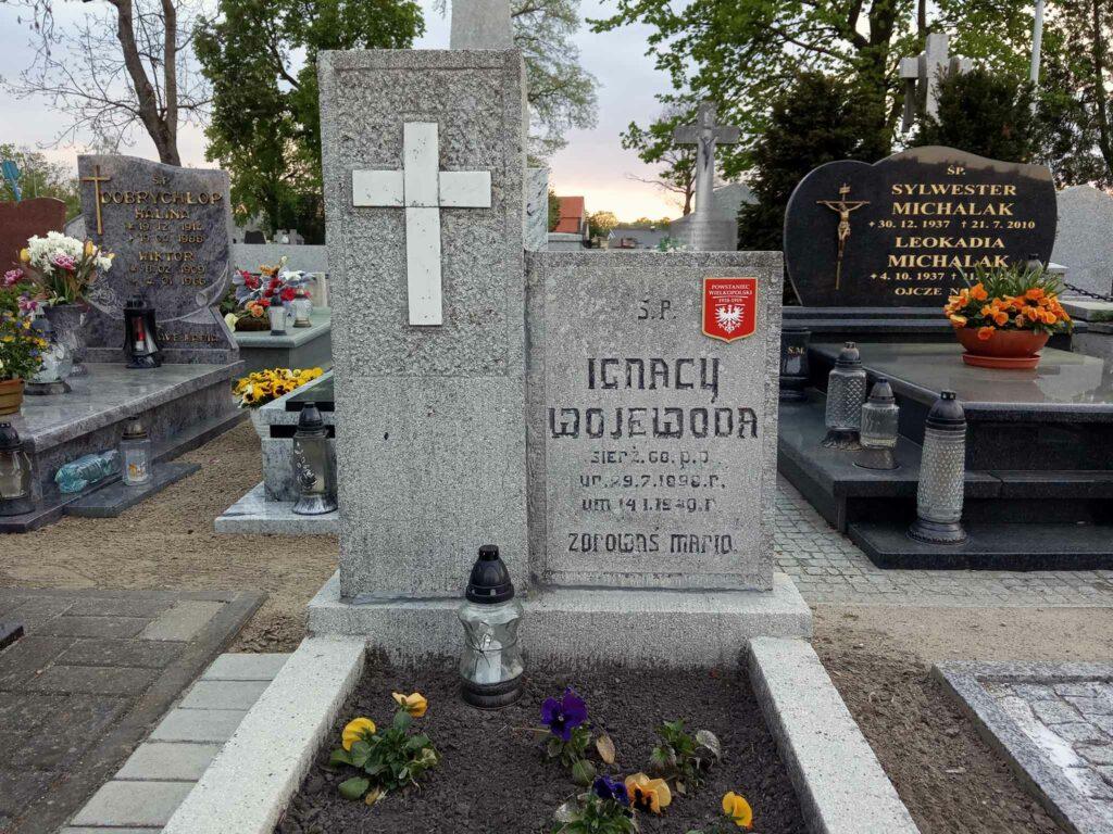 Ignacy Wojewoda - cmentarz parafialny we Wrześni (zdjęcie udostępnił Remigiusz Maćkowiak)