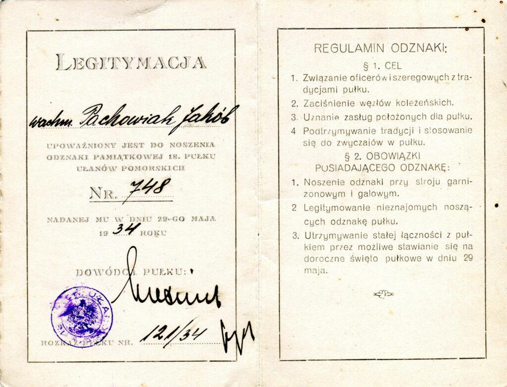 Jakub Pachowiak (dokument udostępnił Remigiusz Maćkowiak)