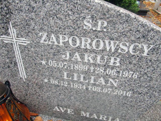 Jakub Zaporowski - cmentarz komunalny w Słupsku (zdjęcie udostępnił Remigiusz Maćkowiak)
