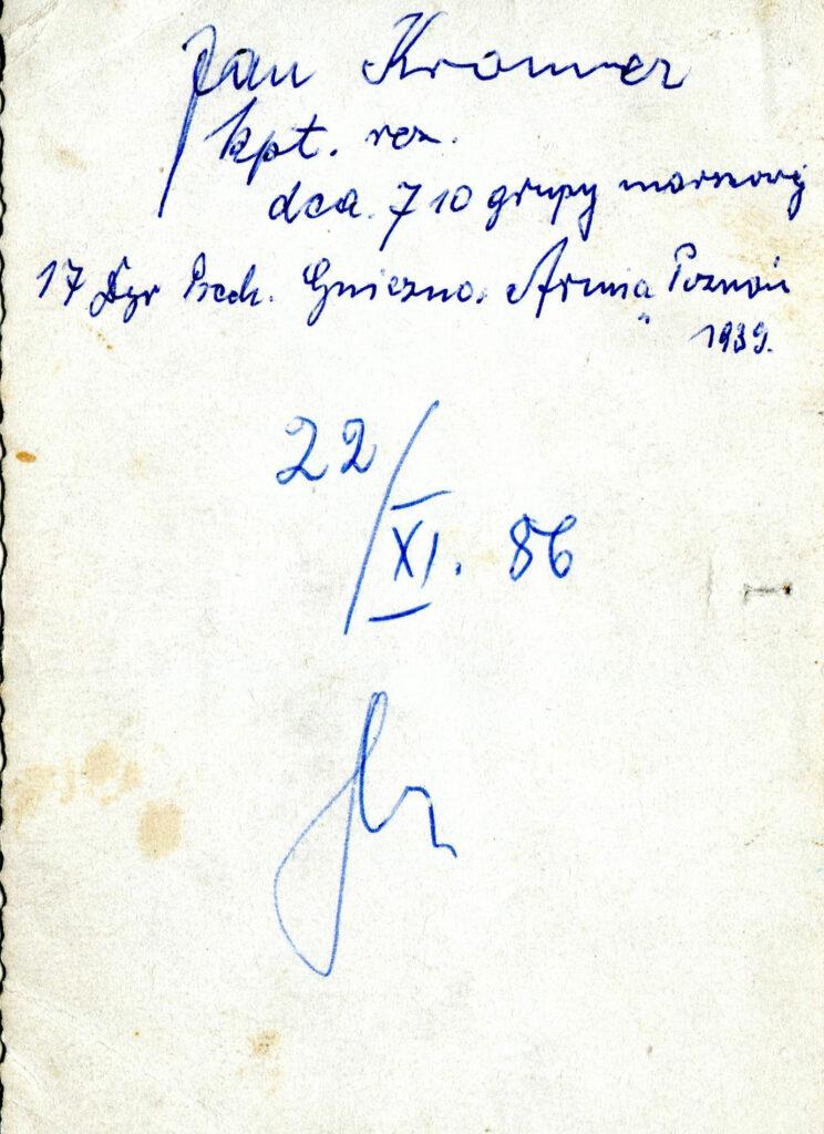 Jan Kramer (dokument udostępnił Remigiusz Maćkowiak)