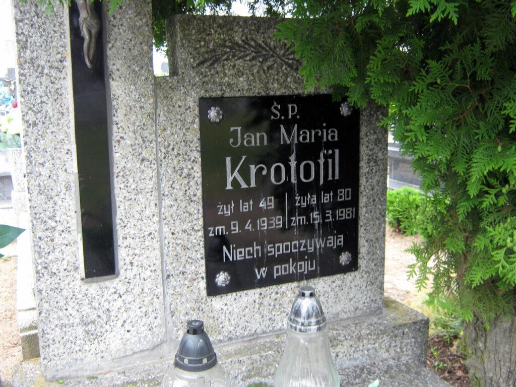 Jan Krotofil - cmentarz w Graboszewie (zdjęcie udostępnił Remigiusz Maćkowiak)