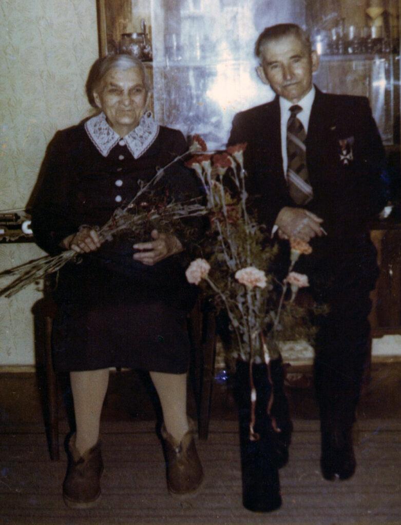 Jan Pietraszak z żoną Zofią (zdjęcie udostępnił Remigiusz Maćkowiak)