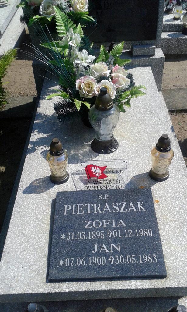 Jan Pietraszak - cmentarz komunalny we Wrześni (zdjęcie udostępnił Remigiusz Maćkowiak)
