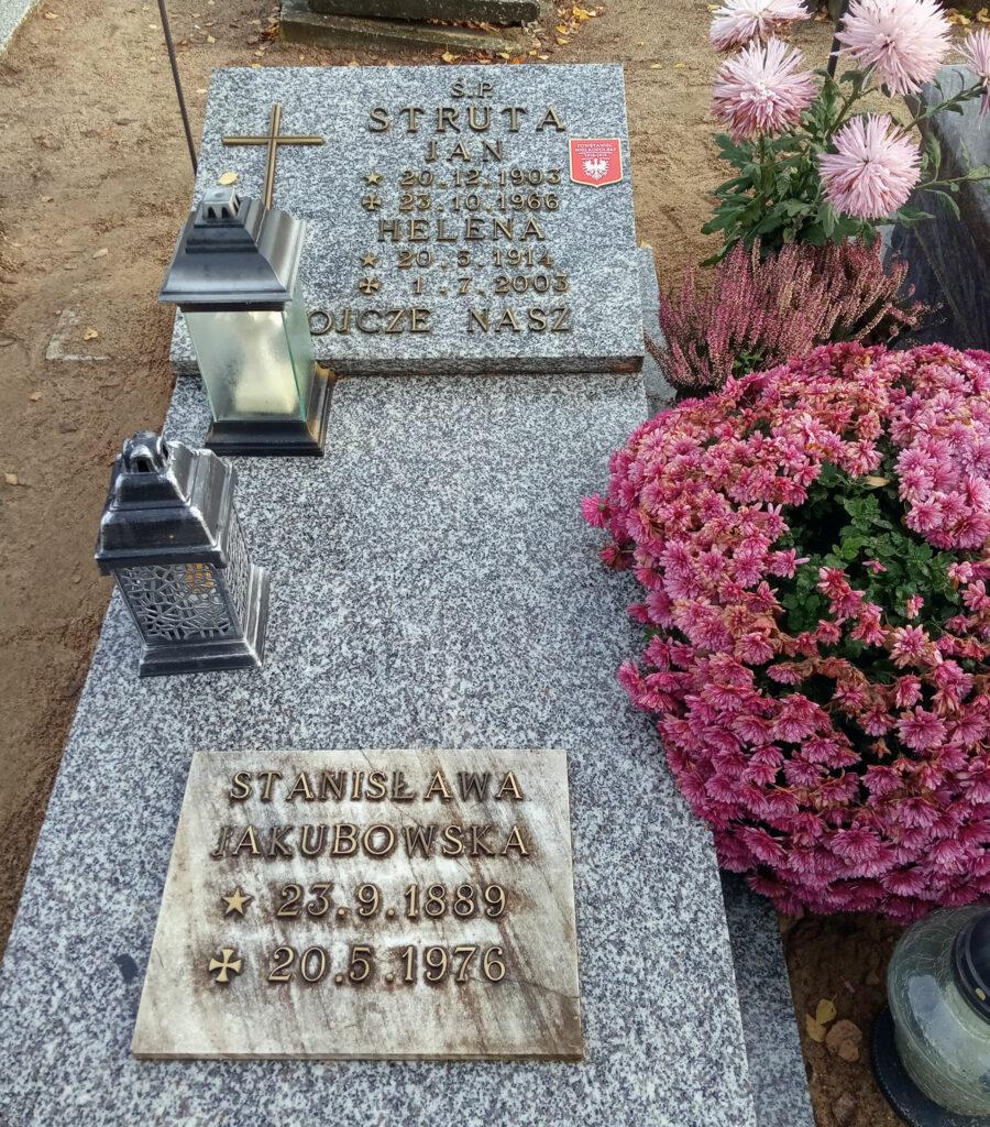 Jan Struta - cmentarz komunalny we Wrześni (zdjęcie udostępnił Remigiusz Maćkowiak)