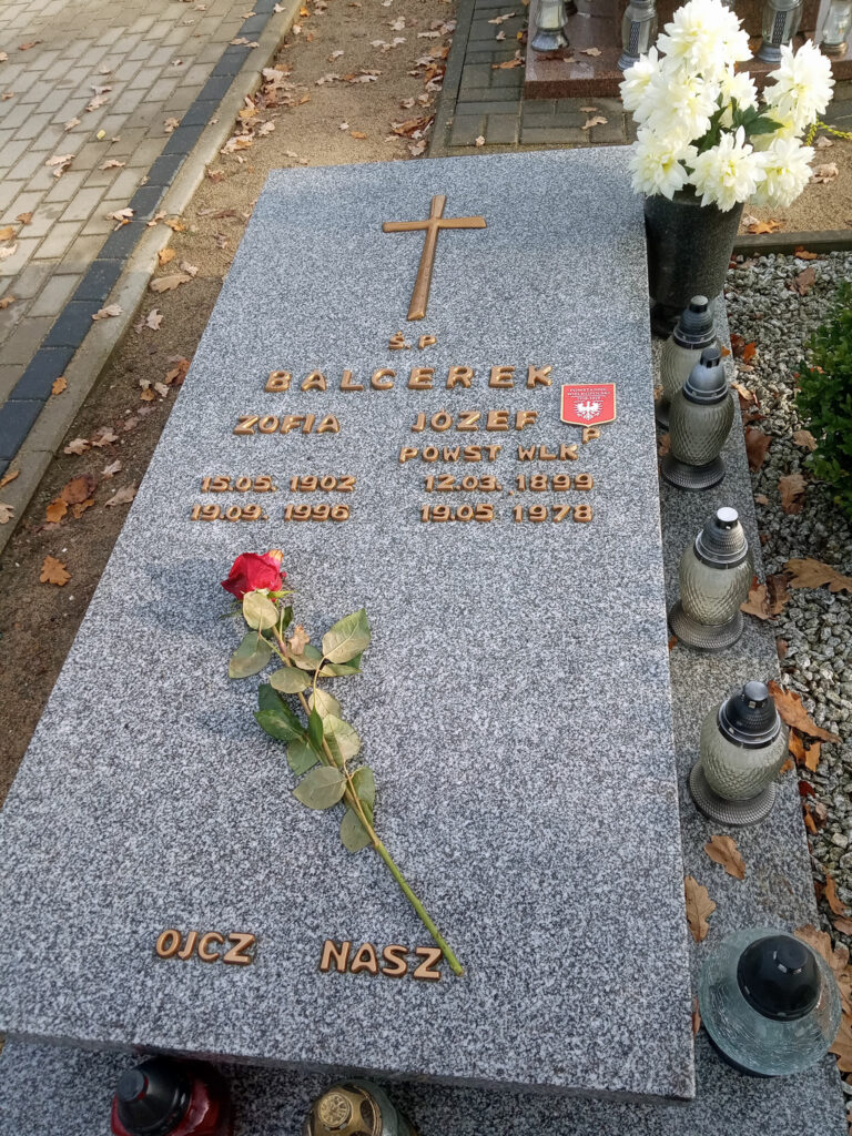 Józef Balcerek - cmentarz komunalny we Wrześni (zdjęcie udostępnił Remigiusz Maćkowiak)