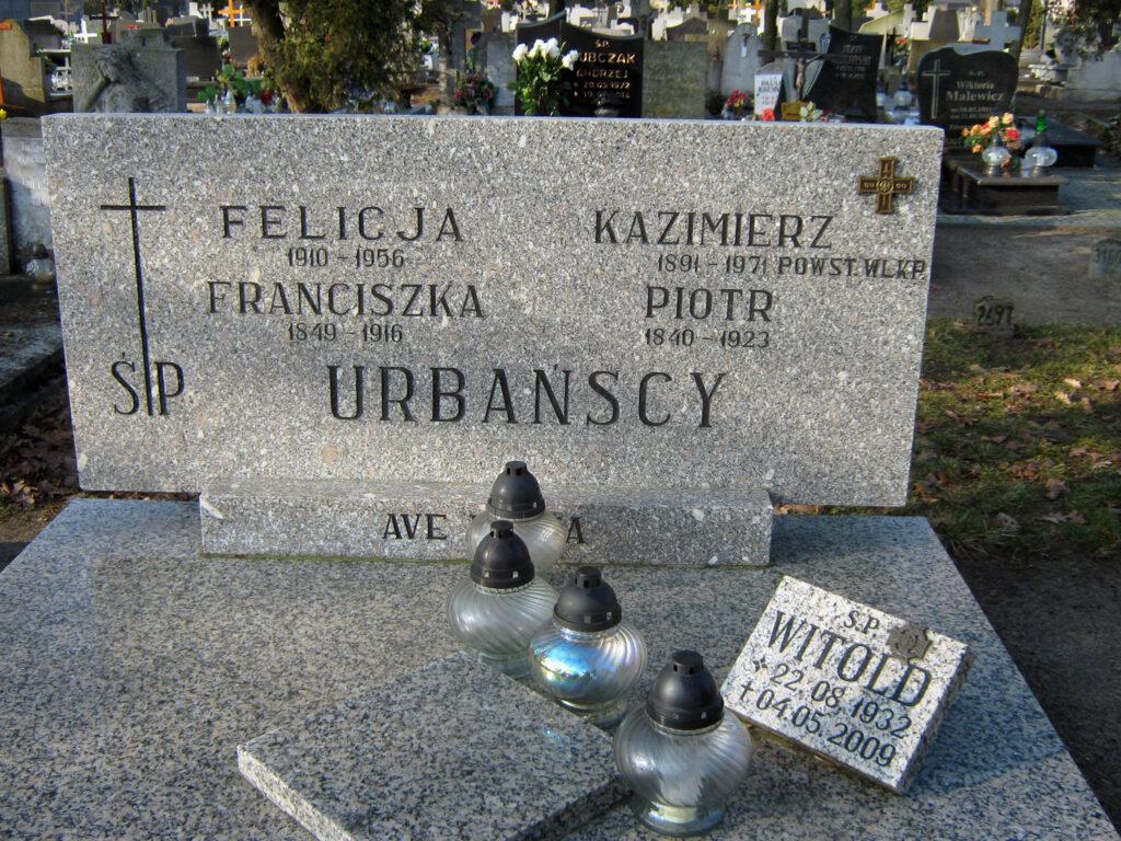 Kazimierz Urbański - cmentarz parafialny we Wrześni (zdjęcie udostępnił Remigiusz Maćkowiak)
