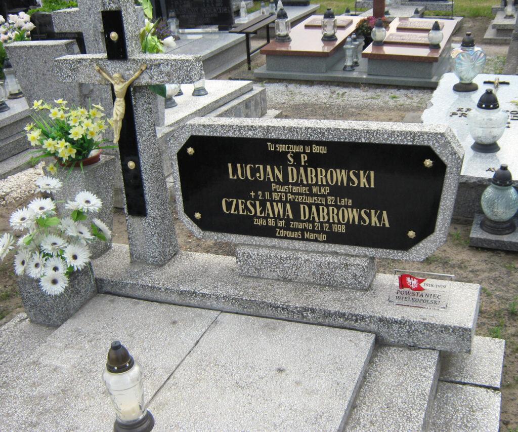 Lucjan Dąbrowski - cmentarz w Miłosławiu (zdjęcie udostępnił Remigiusz Maćkowiak)