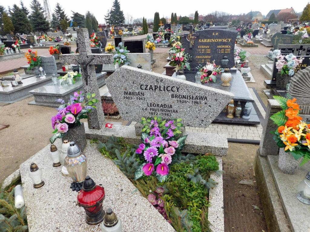 Marcin Czaplicki  - cmentarz w Miłosławiu (zdjęcie Remigiusz Maćkowiak)