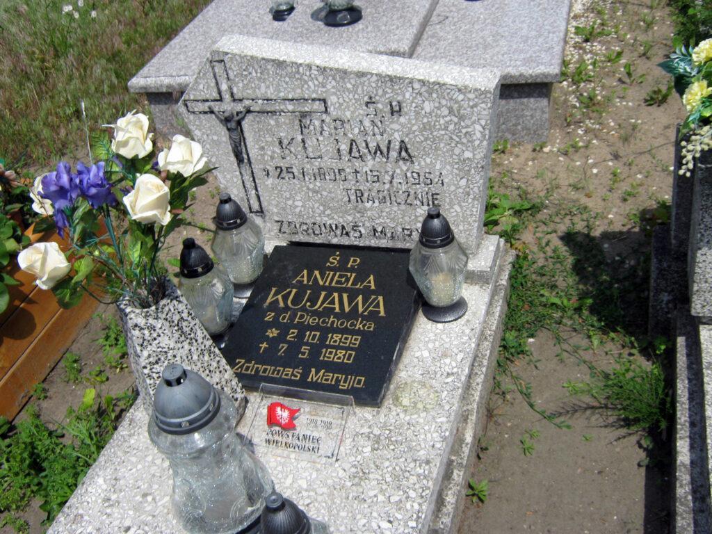 Marian Kujawa - cmentarz parafialny we Wrześni (zdjęcie udostępnił Remigiusz Maćkowiak)