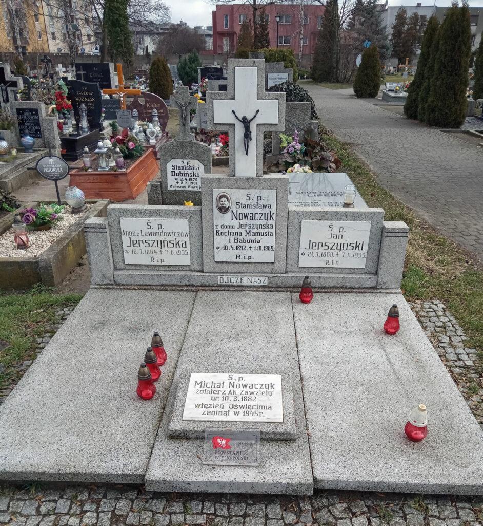 Michał Nowaczyk - symboliczny grób na cmentarzu parafialnym we Wrześni (zdjęcie udostępnił Remigiusz Maćkowiak)