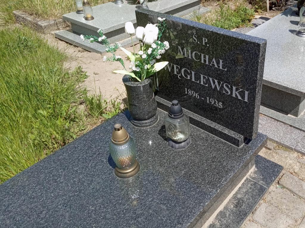 Michał Węglewski - cmentarz parafialny we Wrześni (zdjęcie udostępnił Remigiusz Maćkowiak)