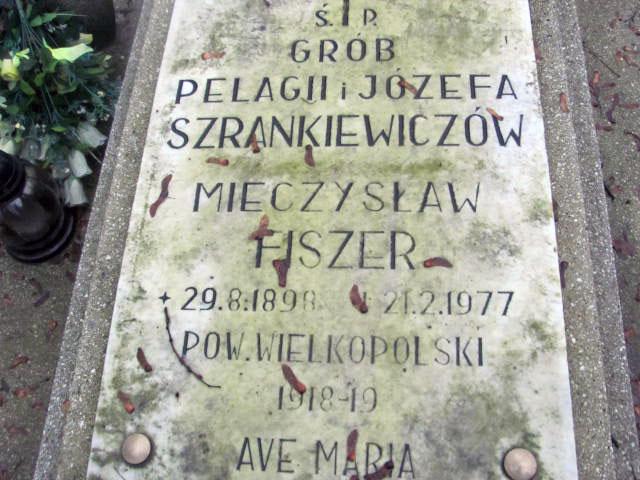 Mieczysław Fiszer - cmentarz w Szamotułach (zdjęcie udostępnił Remigiusz Maćkowiak)