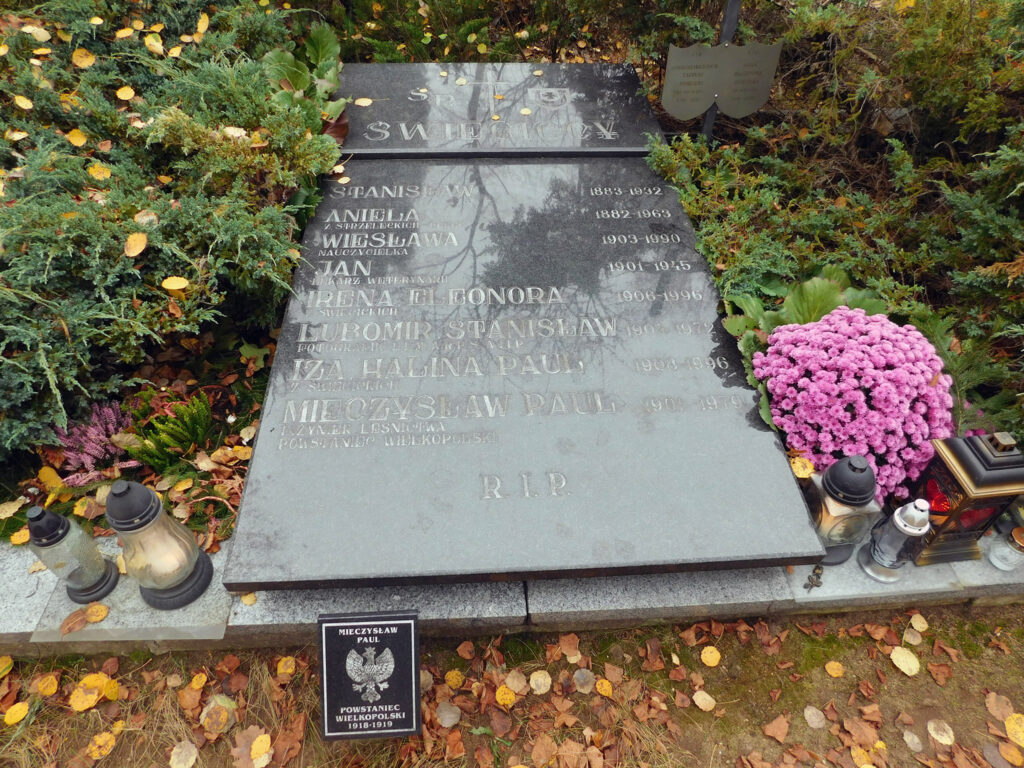 Mieczysław Paul - cmentarz junikowski w Poznaniu (zdjęcie udostępnił Remigiusz Maćkowiak)