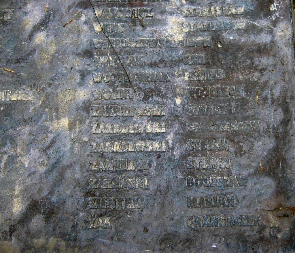 Mieczysław Zakrzewski - tablica w obozie w Żabikowie (zdjęcie udostępnił Remigiusz Maćkowiak)