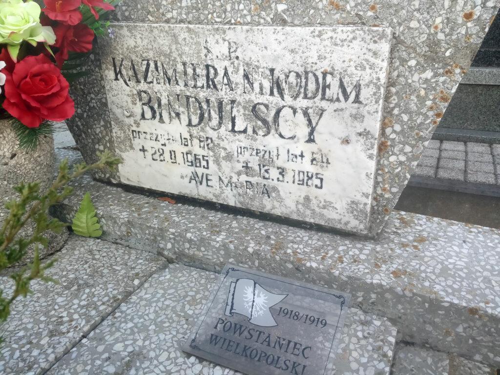 Nikodem Bindulski - cmentarz parafialny w Kaczanowie (zdjęcie udostępnił Remigiusz Maćkowiak)