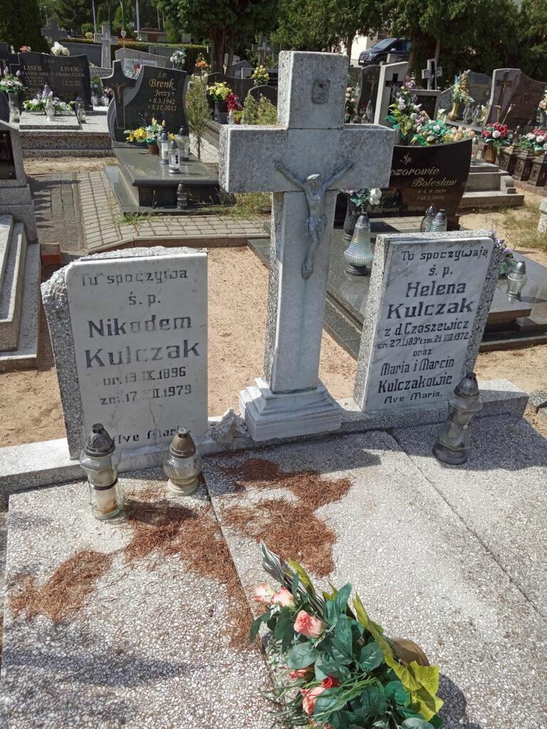 Nikodem Kulczak - cmentarz komunalny we Wrześni (zdjęcie udostępnił Remigiusz Maćkowiak)