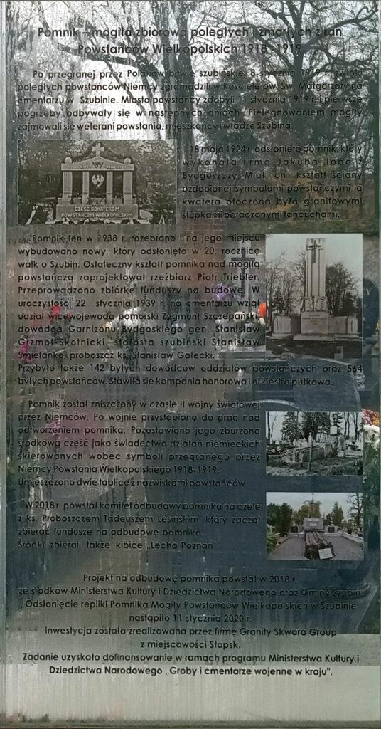 Pomnik Powstańców Wielkopolskich w Szubinie (zdjęcie udostępniła Kamila Czechowska)