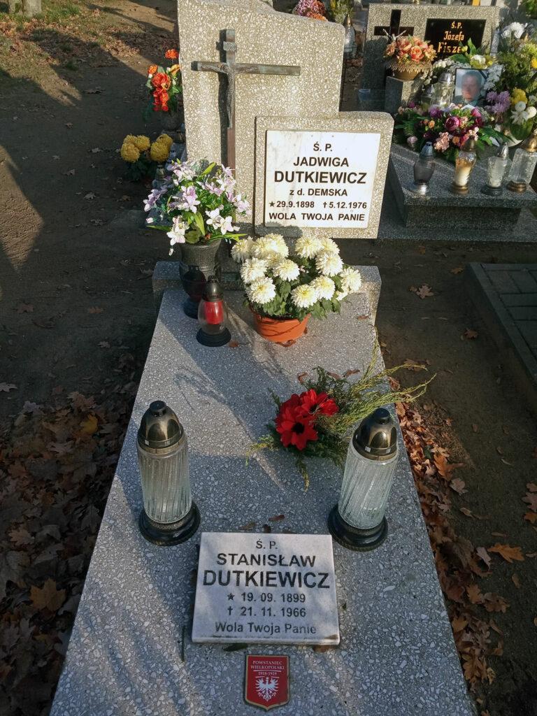 Stanisław Dutkiewicz - cmentarz komunalny we Wrześni (zdjęcie udostępnił Remigiusz Maćkowiak)