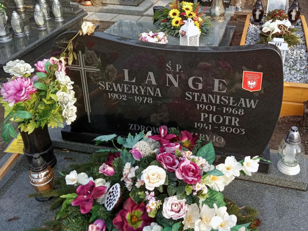 Stanisław Lange - cmentarz komunalny we Wrześni (zdjęcie udostępnił Remigiusz Maćkowiak)