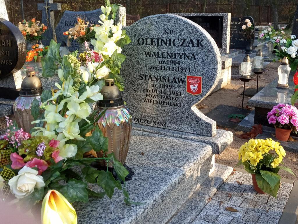 Stanisław Olejniczak - cmentarz komunalny we Wrześni (zdjęcie udostępnił Remigiusz Maćkowiak)
