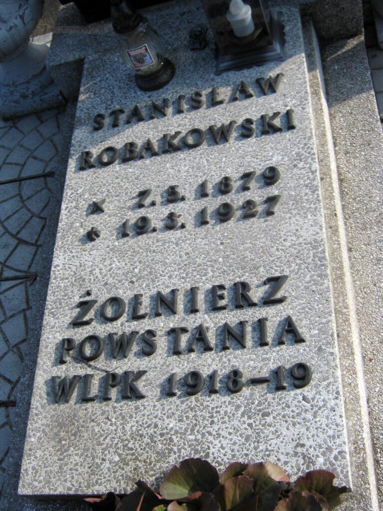Stanisław Robakowski - cmentarz parafialny we Wrześni (zdjęcie udostępnił Remigiusz Maćkowiak)